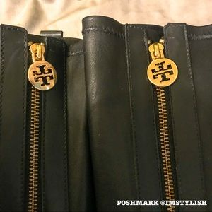 Tory Burch Shoes - EUC Tory Burch Mary Zip Front Stretch Boots